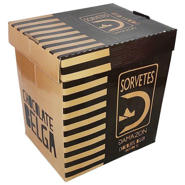 Sorvete Chocolate Belga Damazon - Distribuidora Damazônica - 10 litros