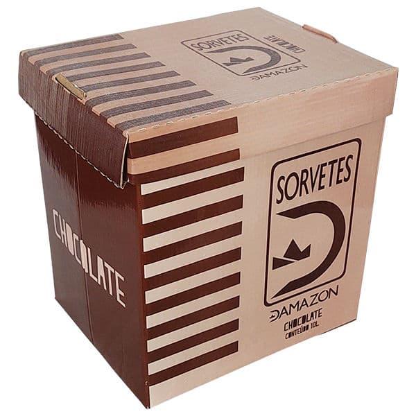 Sorvete Chocolate Damazon - Distribuidora Damazônica - 10 litros